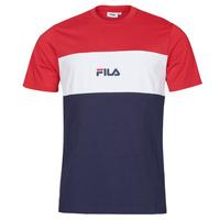 Clothing Men Short-sleeved t-shirts Fila ANOKI Red / Marine / White