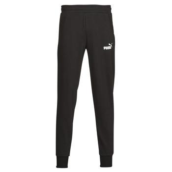 Clothing Men Tracksuit bottoms Puma ESS LOGO PANTS FL CL Black