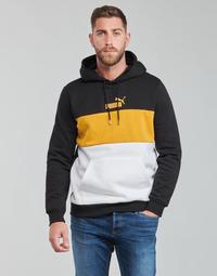 Clothing Men Sweaters Puma ESS+ COLORBLOCK HOODIE FL Black / Yellow