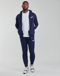 Clothing Men Tracksuits Puma SWEAT SUIT Black / White