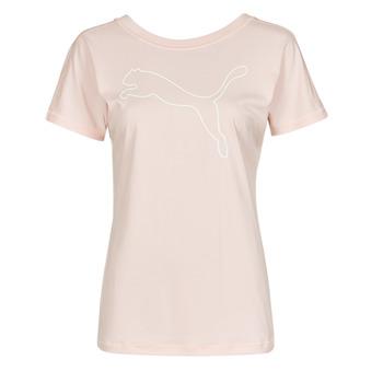 Clothing Women Short-sleeved t-shirts Puma TRAIN FAVORITE JERSEY CAT TEE Pink