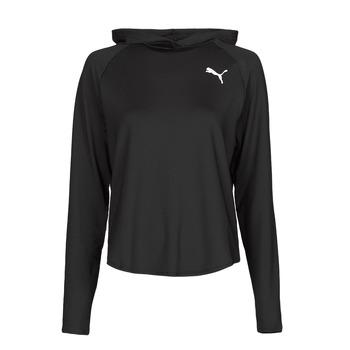 Clothing Women Sweaters Puma ACTIVE HOODIE Black
