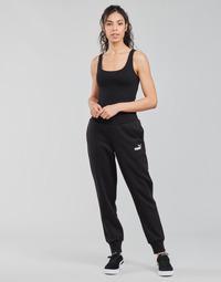 Clothing Women Tracksuit bottoms Puma ESS SWEAT PANT FL CL Black