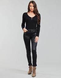 Clothing Women 5-pocket trousers Morgan PBIKER Black