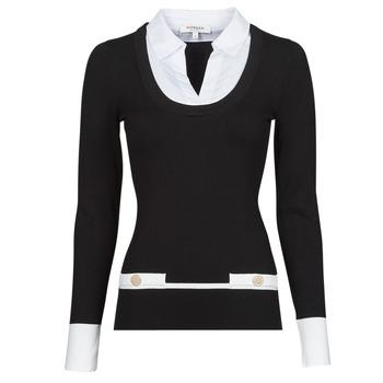 Clothing Women Jumpers Morgan MFLO Black / White