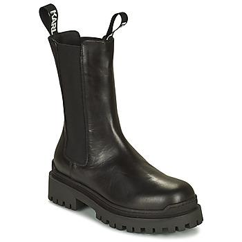 Shoes Women Mid boots Karl Lagerfeld BIKER II LONG GORE BOOT Black