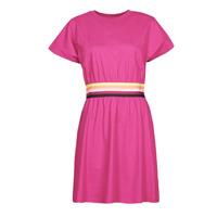Clothing Women Short Dresses Karl Lagerfeld LOGO TAPE JERSEY DRESS Pink