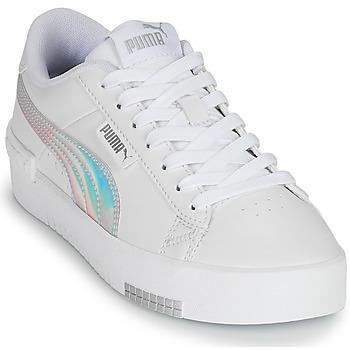 Shoes Girl Low top trainers Puma JADA RAINBOW JR White / Multicolour