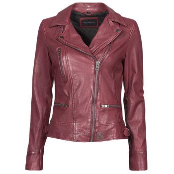 Clothing Women Leather jackets / Imitation leather Oakwood VIDEO Bordeaux