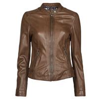 Clothing Women Leather jackets / Imitation leather Oakwood KARINE Brown