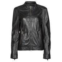 Clothing Women Leather jackets / Imitation leather Oakwood DUBLIN Black