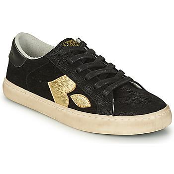 Shoes Women Low top trainers Le Temps des Cerises AUSTIN Black / Gold