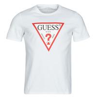 Clothing Men Short-sleeved t-shirts Guess CN SS ORIGINAL LOGO TEE White