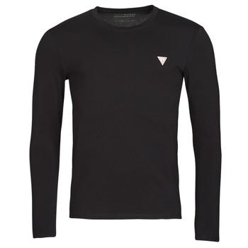 Clothing Men Long sleeved tee-shirts Guess CN LS CORE TEE Black