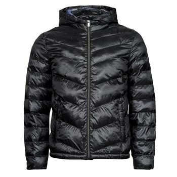 Clothing Men Duffel coats Guess SUPER LIGHT PUFFA JKT Black