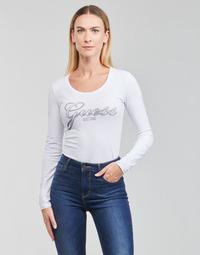 Clothing Women Long sleeved tee-shirts Guess LS CN RAISA TEE White