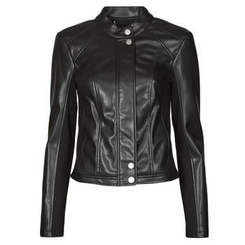Clothing Women Leather jackets / Imitation leather Guess FIAMMETTA JACKET Black