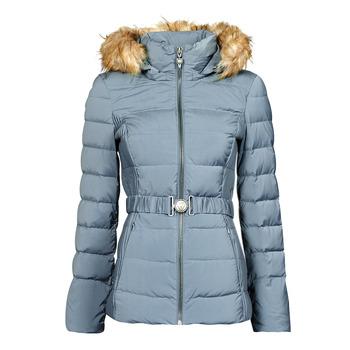 Clothing Women Duffel coats Guess CLAUDIA DOWN JACKET Blue / Clear