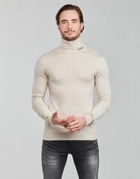 Clothing Men Jumpers Guess LANE BASIC TURTLE NECK White