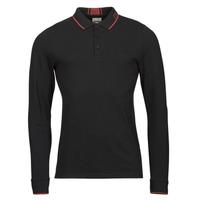 Clothing Men Long-sleeved polo shirts Guess STU LS POLO Black