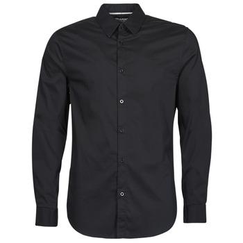 Clothing Men Long-sleeved shirts Guess LS SUNSET SHIRT Black