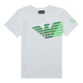 Clothing Boy Short-sleeved t-shirts Emporio Armani EA7 THAMIA White / Green
