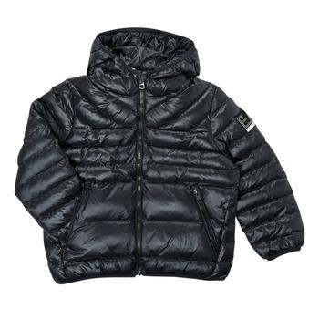 Clothing Boy Duffel coats Emporio Armani EA7 FHALIA Black
