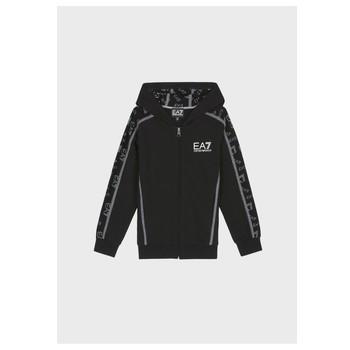 Clothing Boy Sweaters Emporio Armani EA7 MANTHA Black