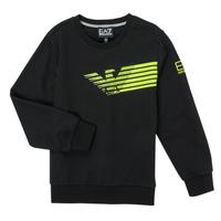 Clothing Boy Sweaters Emporio Armani EA7 SOLIR Black