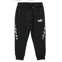 Clothing Boy Tracksuit bottoms Puma PUMA POWER TAPE PANT Black