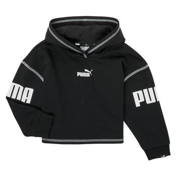 Clothing Girl Sweaters Puma PUMA POWER HOODIE Black