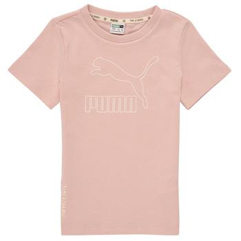 Clothing Girl Short-sleeved t-shirts Puma T4C TEE Pink