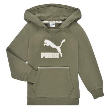 Clothing Boy Sweaters Puma T4C HOODIE Kaki