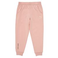 Clothing Girl Tracksuit bottoms Puma T4C SWEATPANT Pink