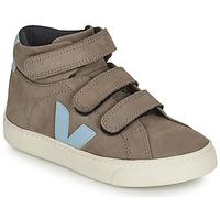 Shoes Children Hi top trainers Veja SMALL ESPLAR MID Grey / Blue