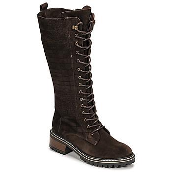 Shoes Women High boots Elue par nous KOFOUR Brown