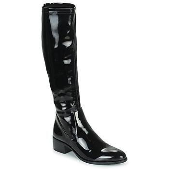 Shoes Women High boots Adige CELINE V1 VERNIS NOIR Black