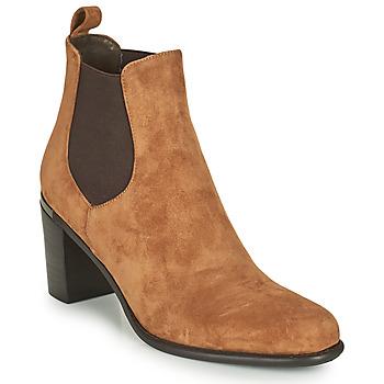 Shoes Women High boots Adige FANY V11 VELOURS HAVANE Brown