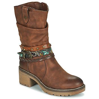 Shoes Women Ankle boots MTNG 50003-C52072 Cognac