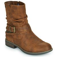 Shoes Women Mid boots MTNG 51892-C52072 Cognac