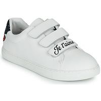 Shoes Women Low top trainers Bons baisers de Paname EDITH JE T AIME MOI NON PLUS White