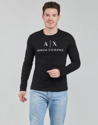 Clothing Men Long sleeved tee-shirts Armani Exchange 8NZTCH Black