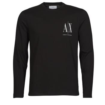Clothing Men Long sleeved tee-shirts Armani Exchange 8NZTPL Black