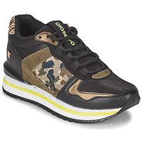 Shoes Women Low top trainers Gioseppo GRAZ Black / Kaki