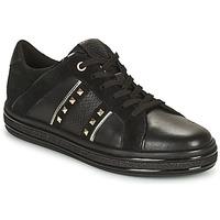 Shoes Women Low top trainers Geox LEELU' Black