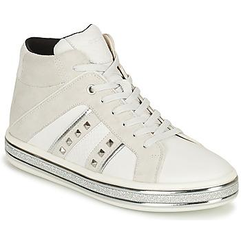 Shoes Women Mid boots Geox LEELU' White / Grey