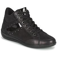 Shoes Women Hi top trainers Geox MYRIA Black