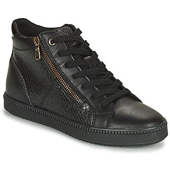 Shoes Women Hi top trainers Geox BLOMIEE Black
