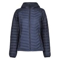 Clothing Women Duffel coats Columbia POWDER LITE HOODED JACKET Marine / Black