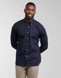 Clothing Men Long-sleeved shirts U.S Polo Assn. DIRK 51371 EH03 Marine